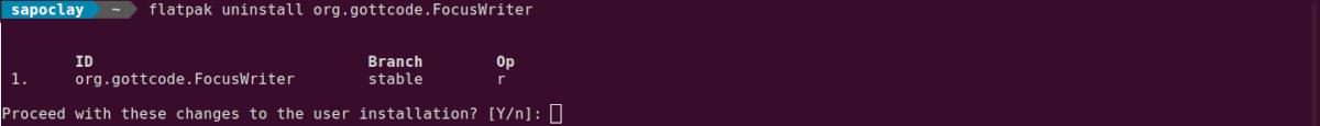 desinstalar flatpak de FocusWriter