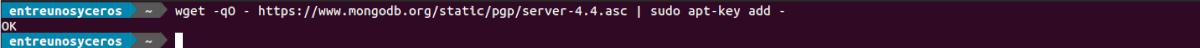 importar clave gpg repo MongoDB 4.4