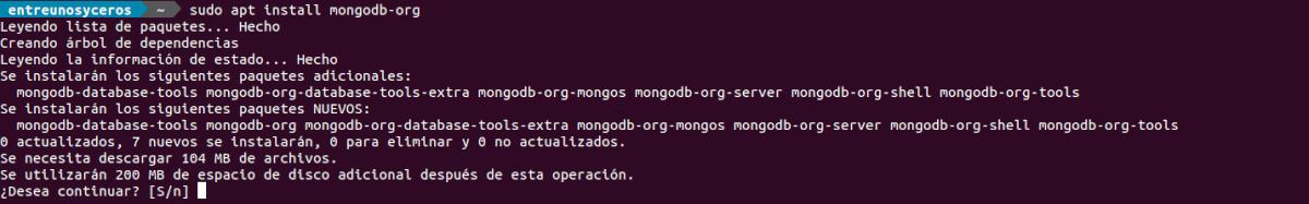 instalar mongodb-org