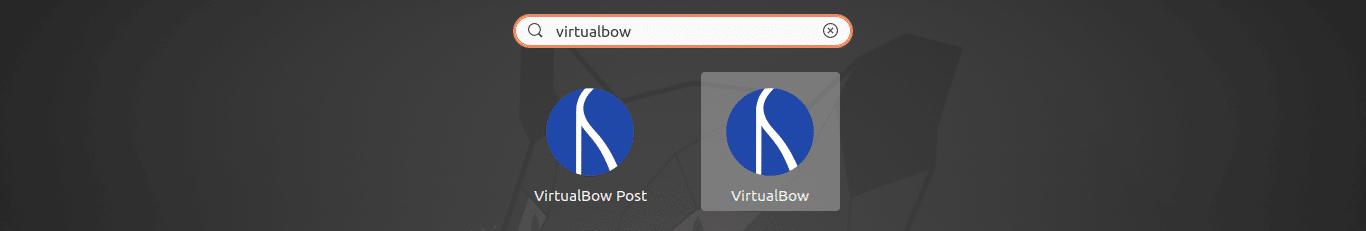 lanzador de virtualbow