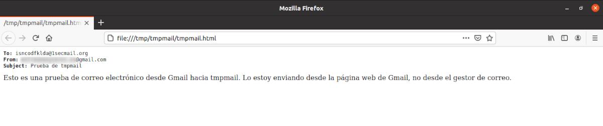 verificación de correo desde firefox