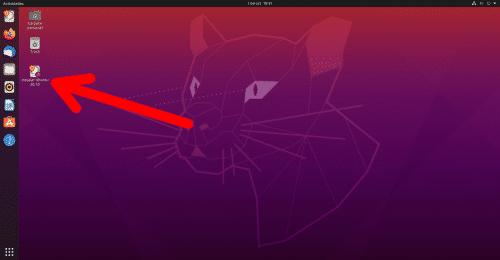 Icono del instalador de Ubuntu 20.10