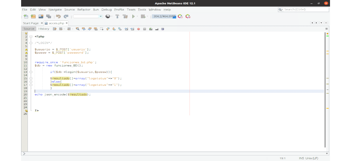 captura de netbeans 12.1
