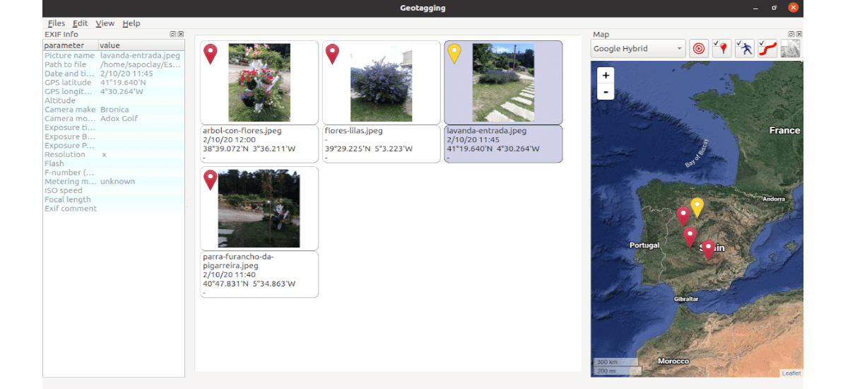 exif geotagging info