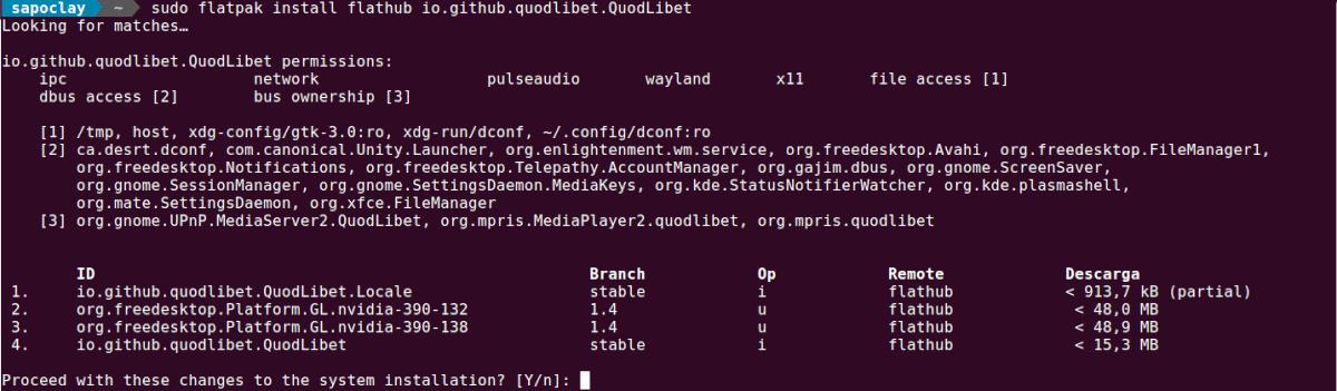 instalaciń de Quod Libet en Ubuntu 20.04