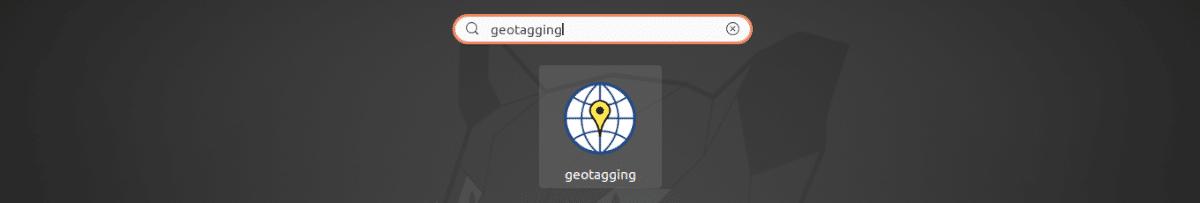 lanzador de geotagging