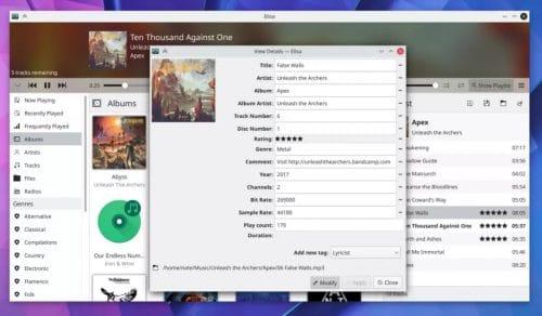 Elisa en KDE Applications 20.12