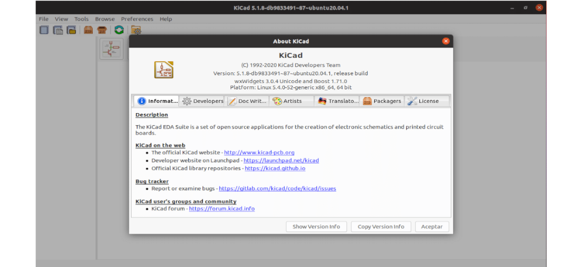 about kicad 5.1.8