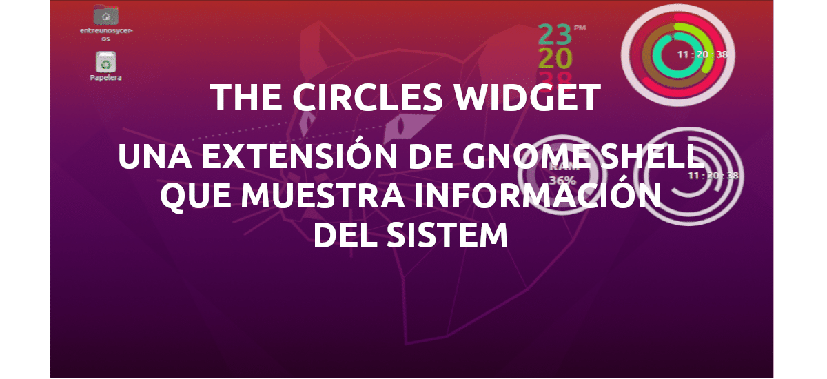 about the circle widget extension gnome shell
