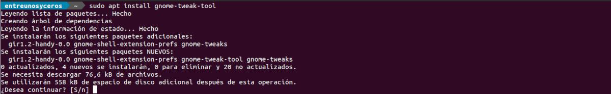instalar gnome tweak tool