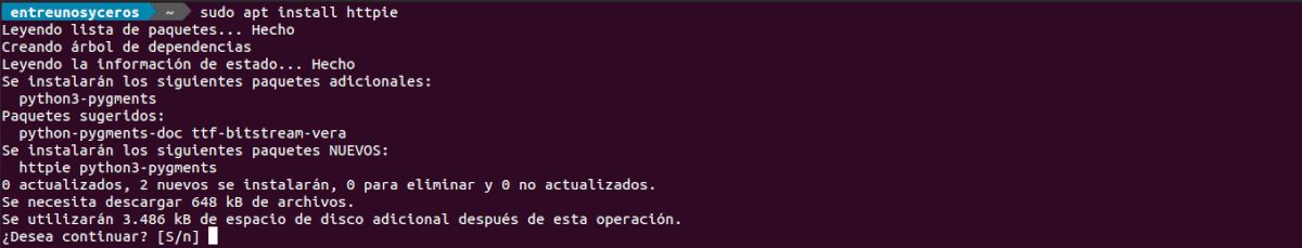 instalar httpie