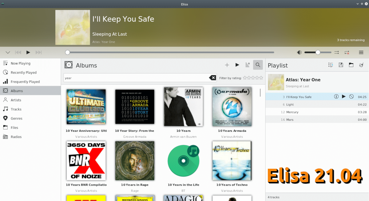 Elisa en KDE Applications 21.04