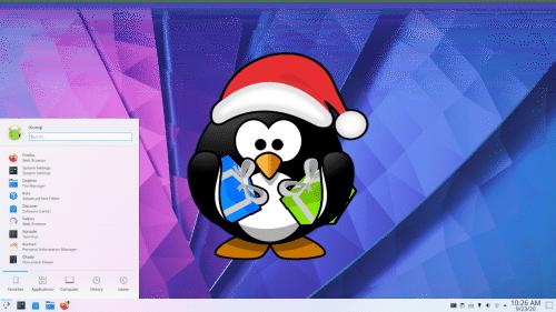 KDE sigue trabajando en navidad
