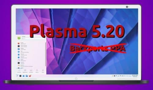 Plasma 5.20 no llegará al Backports PPA