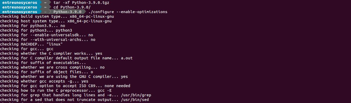 configure enable --optimizations
