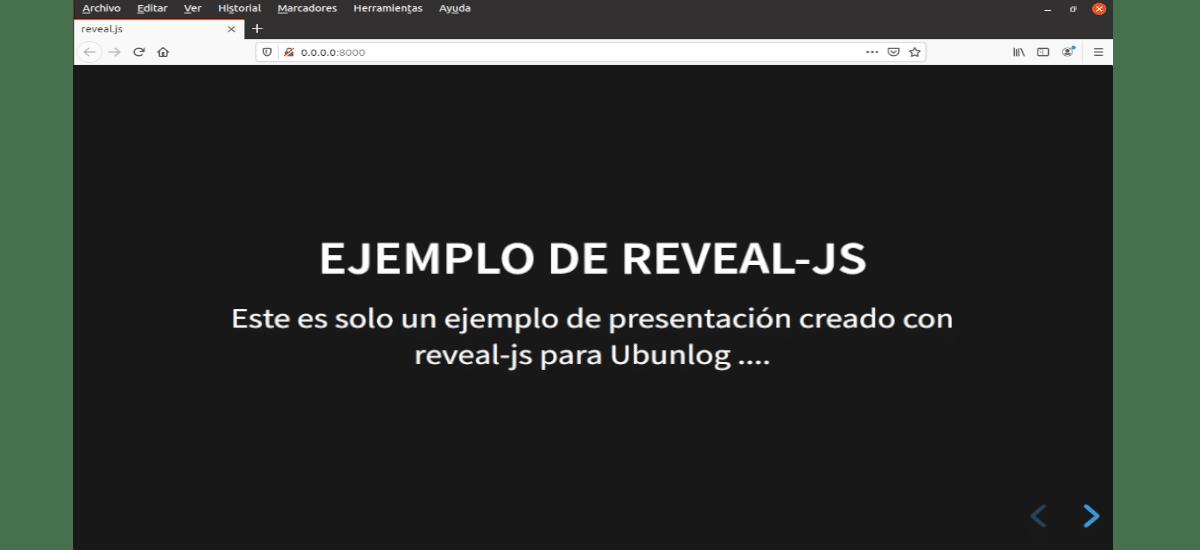 ejemplo de reveal.js para ubunlog