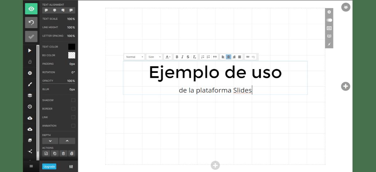 ejemplo plataforma slides