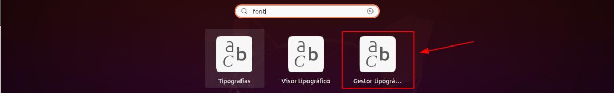 lanzador de font manager