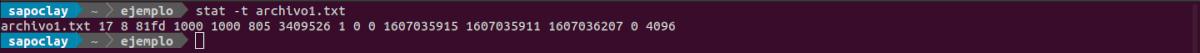 formato básico comando stat