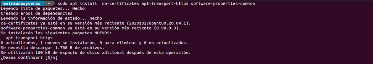 instalar dependencias de php 8