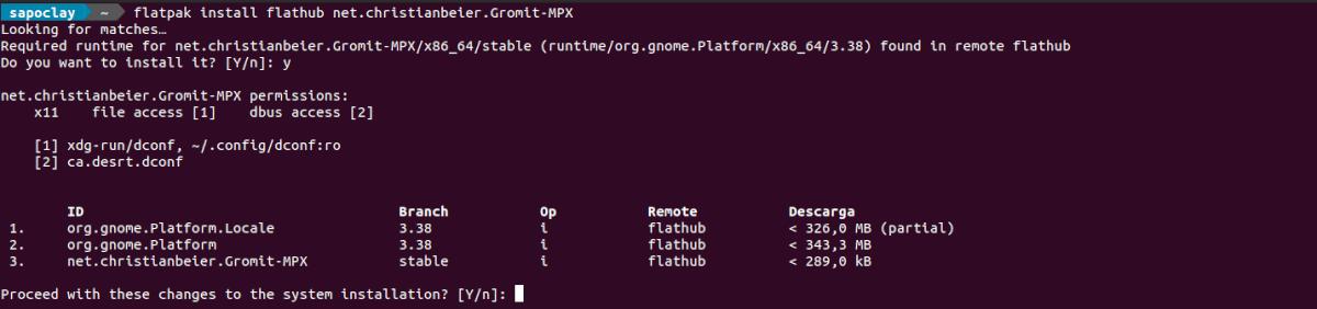 instalar gromit-mpx