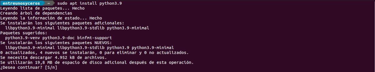 intalar python 3.9