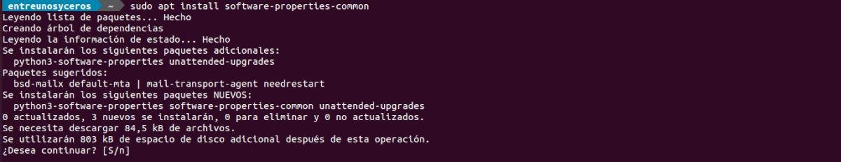 instalar software properties common