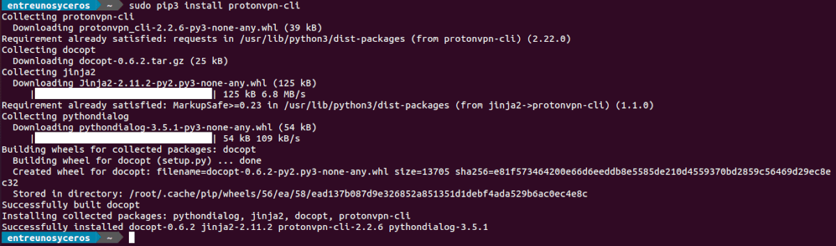 pip3 install protonvpn