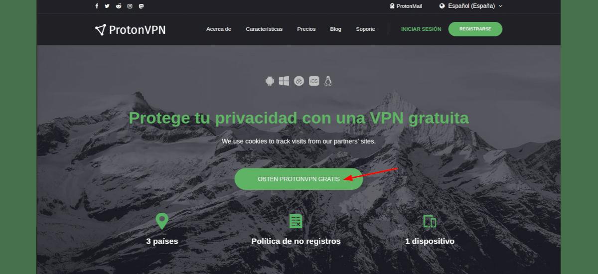 registro web
