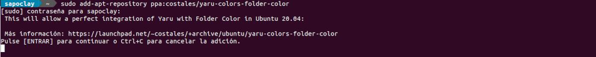 add repo folder color Ubuntu 20.04