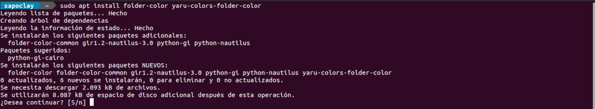 instalar folder color en Ubuntu 20.04
