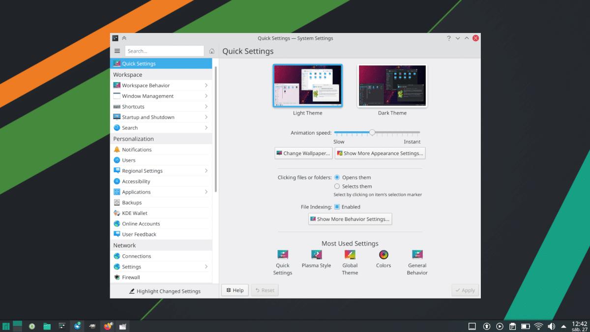 Ajustes rápidos en KDE Plasma 5.22