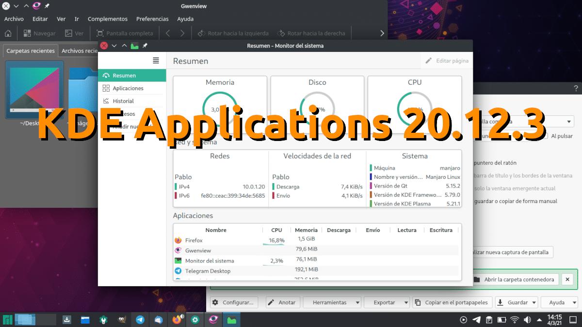 KDE Applications 20.12.3 llega como última actualización de esta serie realizando los últimos retoques