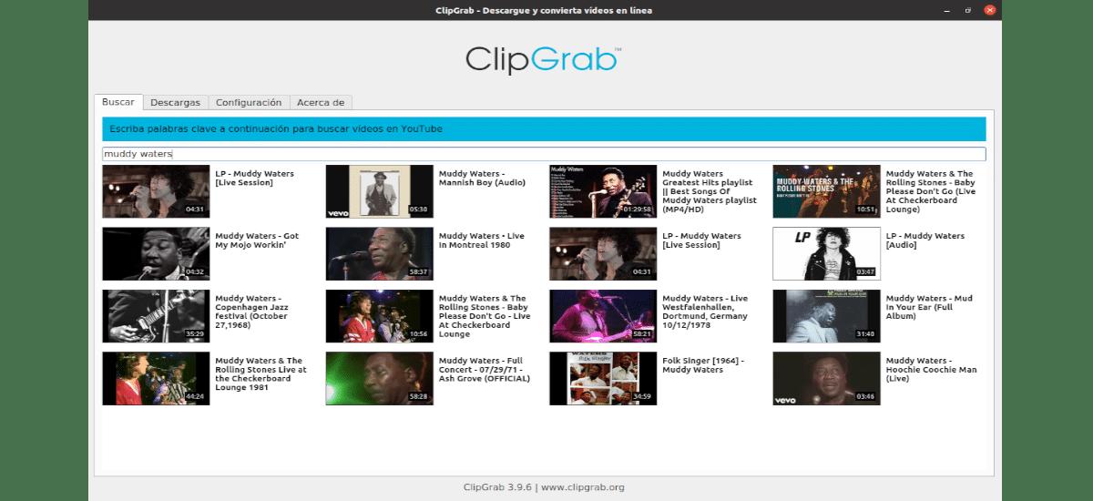 búsqueda con clipgrab