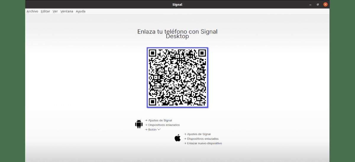 código QR acceso a signal