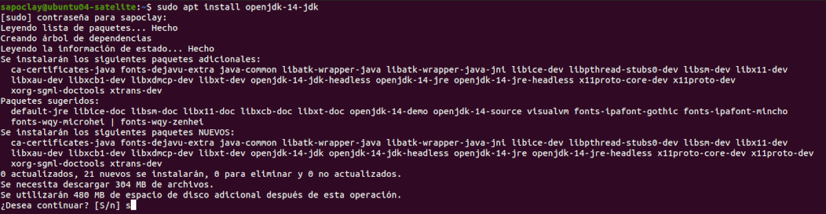instalar openjdk14