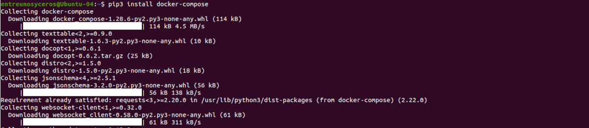 instalar pip3 docker compose