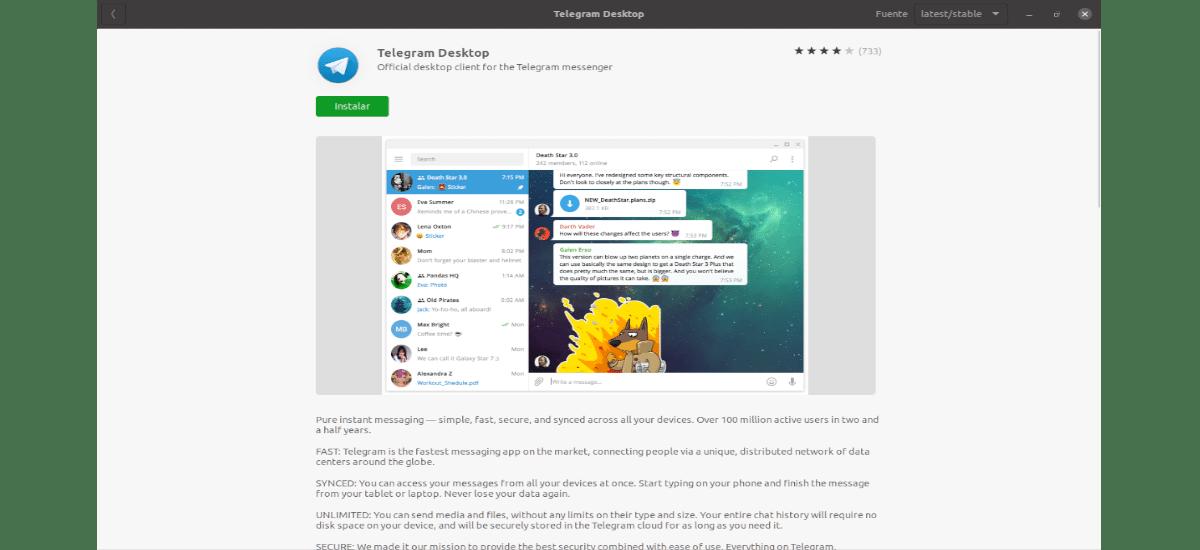 instalar desde la opción de software de Ubuntu