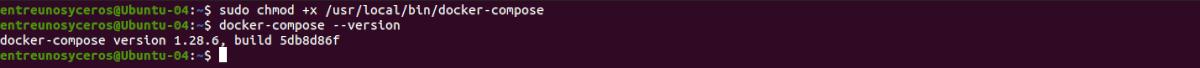 versión de docker compose de GitHub