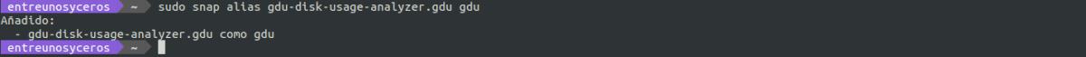 crear un alias con snap