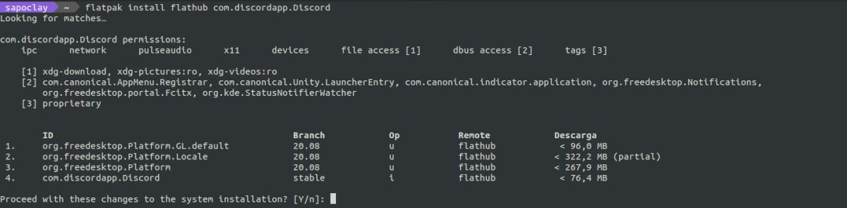 instalar flatpak discord