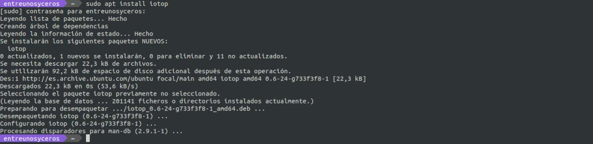 instalar iotop