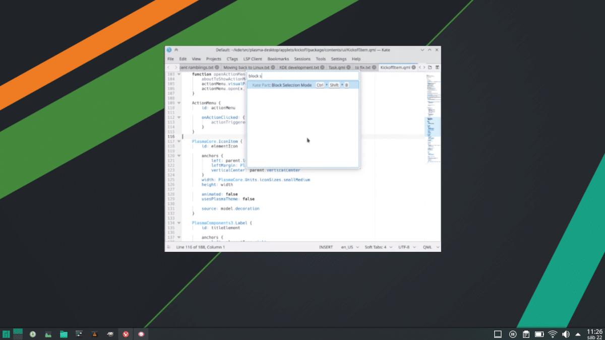 KCommandBar en KDE Plasma