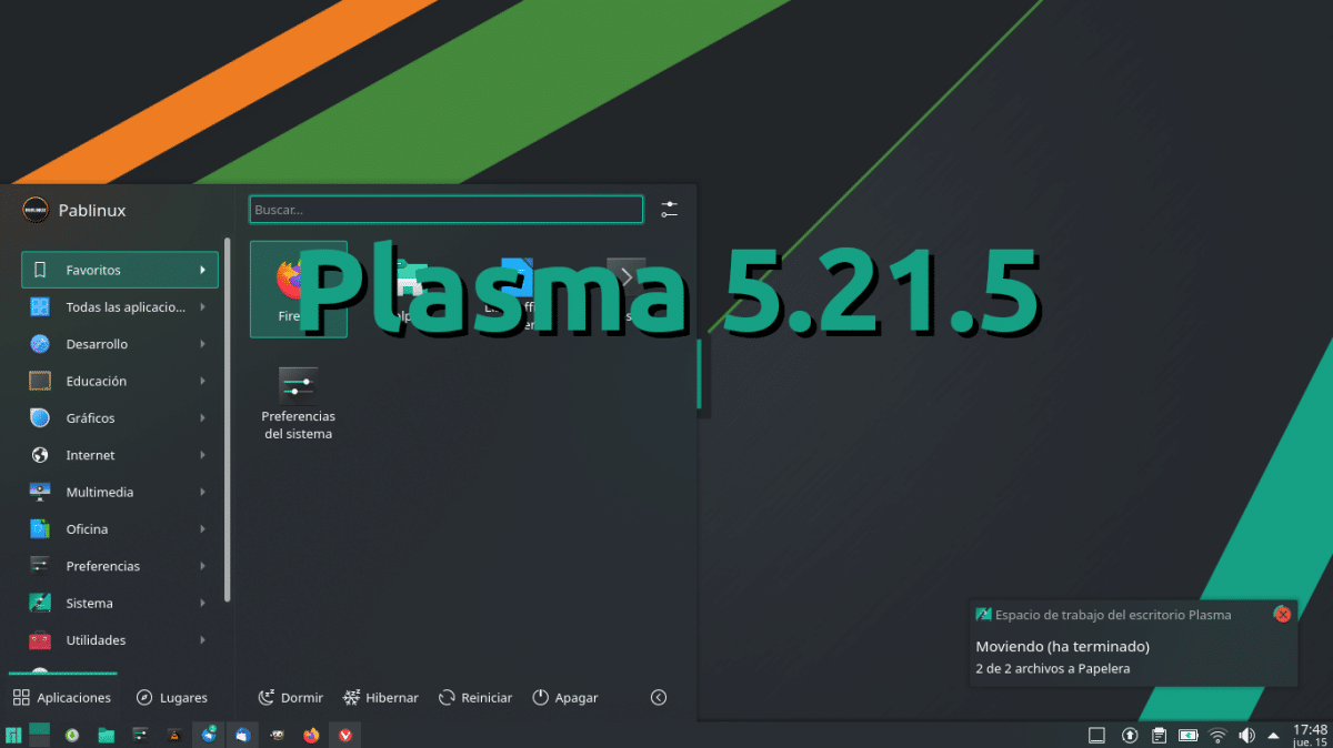 Plasma 5.21.5