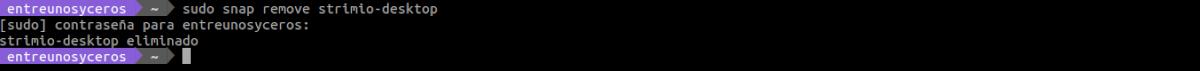 desinstalar strimio