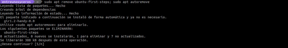 desinstalar Ubuntu first steps