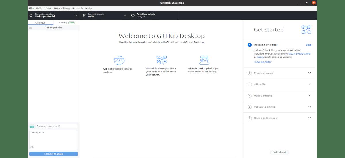github desktop funcionando