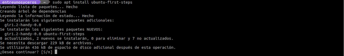 instalar Ubuntu first steps