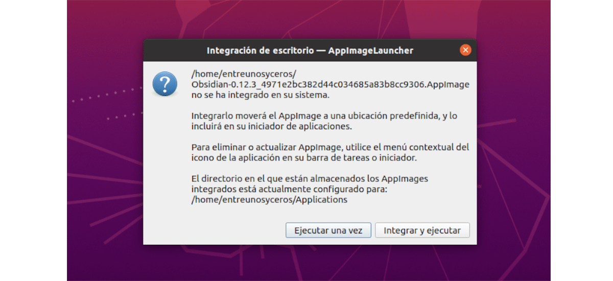 integración appimage