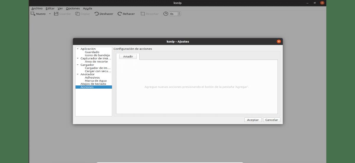 opciones de ksnip 1.9.0